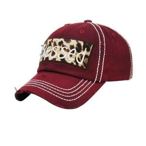 Accessories - Blessed animal print baseball hat